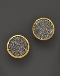 Gurhan Sterling Silver And 24K Gold Galaxy Druzy Earrings Silver Yellow Gold