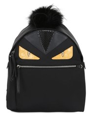 Fendi Monster Nylon And Elaphe Backpack W Fur