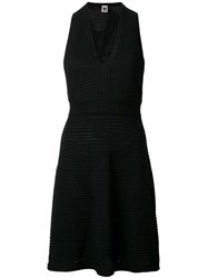 M Missoni Fitted V Neck Dress Black