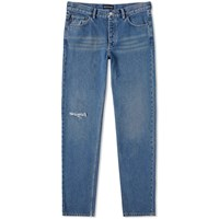 Balenciaga Knee Hole Jean Blue