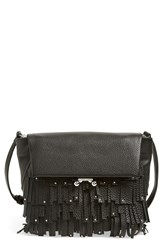 Etienne Aigner 'Paley' Crossbody Bag Black Fringe