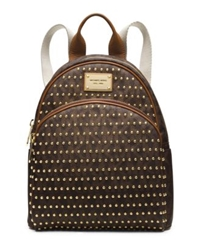 Michael Kors Jet Set Travel Small Studded Logo Backpack Brown