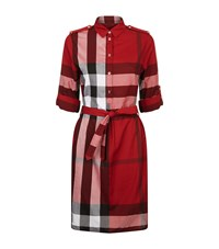 Burberry Belted Check Dress Female Red