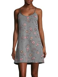 Lord And Taylor Plus Short Floral Chemise Marigold