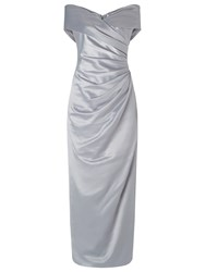 Jacques Vert Lorcan Bardot Cross Front Maxi Dress Light Grey