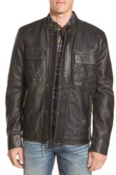 Lucky Brand 'Ace' Leather Jacket Black