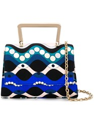Emilio Pucci Abstract Print Tote Bag Blue
