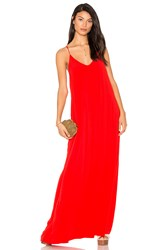 Michael Stars Maxi Slip Dress Red