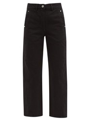 Christophe Lemaire Twisted Cropped Straight Leg Jeans Black
