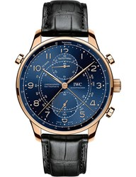 Iwc Iw371215 Portugieser Chronograph Rattrapante Edition Boutique Milano Watch Gold Black
