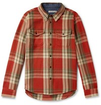 Outerknown Organic Cotton Twill Shirt Red