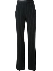 Scanlan Theodore Pinstripe Flared Trousers Grey