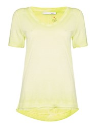 Oui V Neck T Shirt Yellow