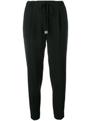 Antonelli Tapered Drawstring Trousers Black
