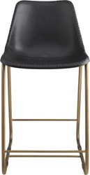 Cb2 Roadhouse Black Leather 24'' Counter Stool