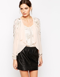 Lipsy Waterfall Jacket Nude