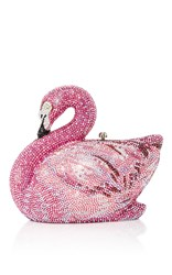 Judith Leiber Couture Avalon Swan Clutch Pink