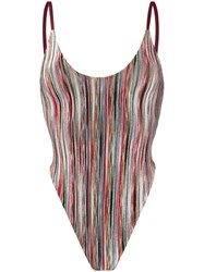 Missoni Mare Striped Fitted One Piece 60