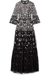 Needle And Thread Dragonfly Garden Embellished Tulle Maxi Dress Black