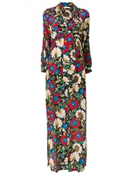 Anjuna Floral Print Maxi Dress Black