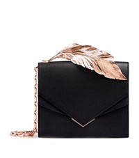 Ralph And Russo Alina Feather Clutch Female Blue