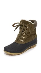 Joie Delyth Booties Deep Olive Ivory