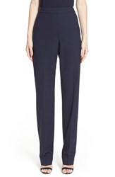 St. John Women's Collection 'Diana' Tropical Wool Pants Navy