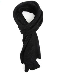 Billtornade Black Flecked Knitted Wool Scarf Batist