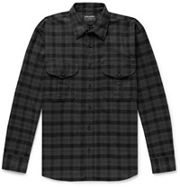 Filson Alaskan Guide Checked Cotton Flannel Shirt Black
