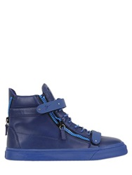 Giuseppe Zanotti Bangle Nappa Leather High Top Sneakers Blueette