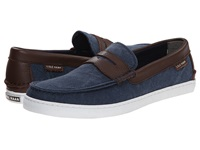 Cole Haan Pinch Weekender Blazer Blue Chestnut Textile Men's Slip On Shoes Navy
