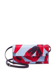Marni Illusion Leather Wallet Illusion Blue