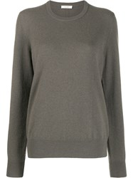 The Row Relaxed Knit Jumper Brown