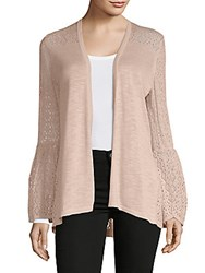 August Silk Open Front Flounce Cuff Cardigan Black