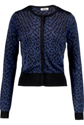 Issa Jillian Jacquard Knit Cardigan Black