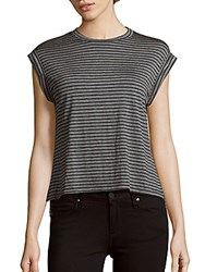 Candc California Rooney Relaxed Montana Striped Top Black Multi