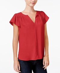 Maison Jules Flutter Sleeve Top Only At Macy's Loving Red