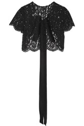 Oscar De La Renta Cropped Corded Lace Jacket Black