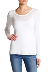 Chaser Ribbed Scoop Back Long Sleeve Shirt White