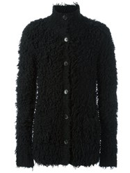 Soulland 'Adenuga' Long Haired Cardigan Black