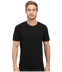Agave Banner Short Sleeve 100 Cotton Slub Black Men's Short Sleeve Pullover