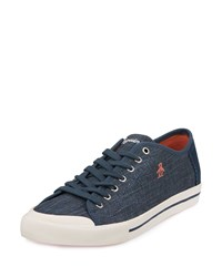 Penguin Chiller Linen Sneaker Dress Blues