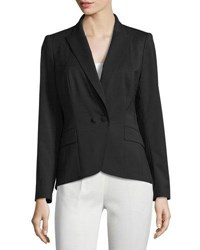 Lafayette 148 New York Two Button Twill Blazer Black
