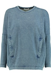 Helmut Lang Denim Sweatshirt Blue