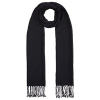 John Lewis Wool Mix Occasion Scarf Black
