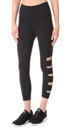 Beyond Yoga Wide Band Stacked Capri Leggings Jet Black