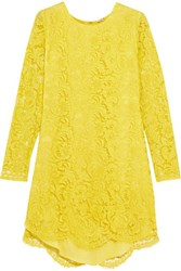 Adam By Adam Lippes Corded Lace Mini Dress Chartreuse