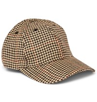 Our Legacy Houndstooth Linen Tweed Baseball Cap Cream