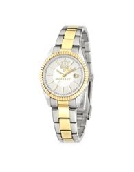 Maserati Competizione Silver Dial Two Tone Stainless Steel Women's Watch