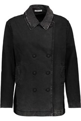 Tomas Maier Double Breasted Cotton Blend Jacket Charcoal